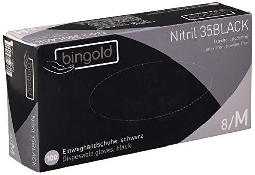 Einmalhandschuhe Nitril 35BLACK, schwarze Nitrilhandschuhe, Größe M, 100-er Pack