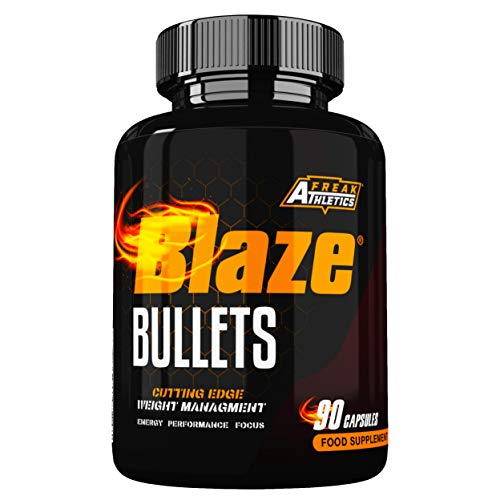 Blaze Bullets Fat Burner by Freak Athletics - Fat Burners Suitable for Both Men & Women - 90 Capsules - Made in The UK High Quality Guaranteed