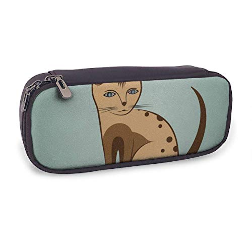 Pencil Case Pen Bag,Nice Kitty Cat,Large Capacity Pen Case Pencil Bag Stationery Pouch Pencil Holder Pouch with Big Compartments