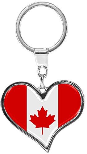 metALUm Schlüsselanhänger aus Metall / Flagge Kanada - / 6611011SJ