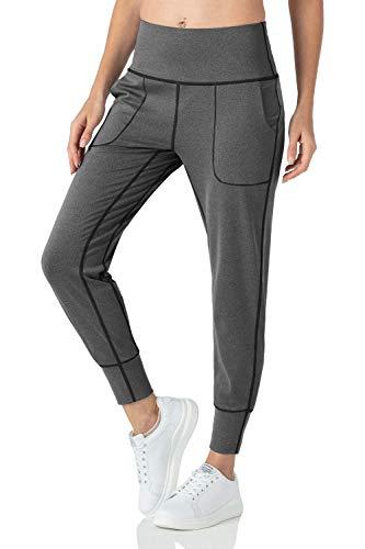 YZ-YUAN La Yoga del Estiramiento de la Cintura Alta del Desgaste de la Yoga de los Deportes jadea, Pantalones Corrientes de la Yoga del Entrenamiento con los Bolsillos