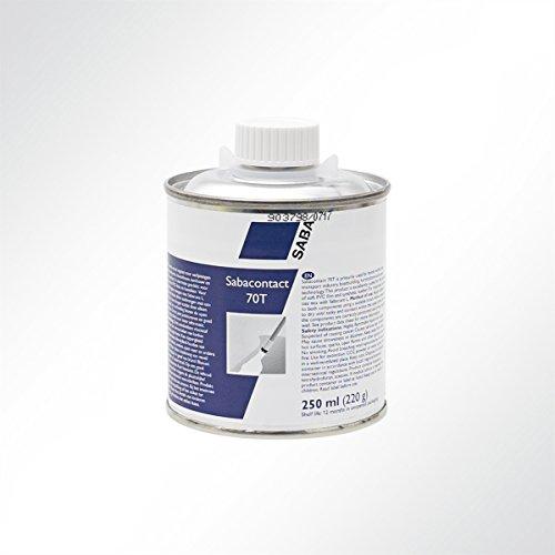 Saba Kontaktkleber mit Pinsel Sabacontact 70T PVC Kleber für Planen, Teichfolien 250ml