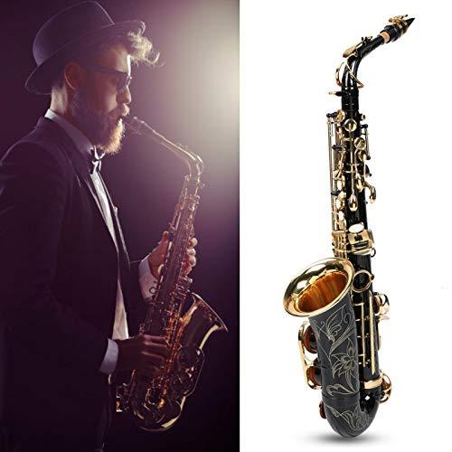 Sassofono contralto a tubo flessibile per principianti, insegnamento e spettacoli teatrali(black)