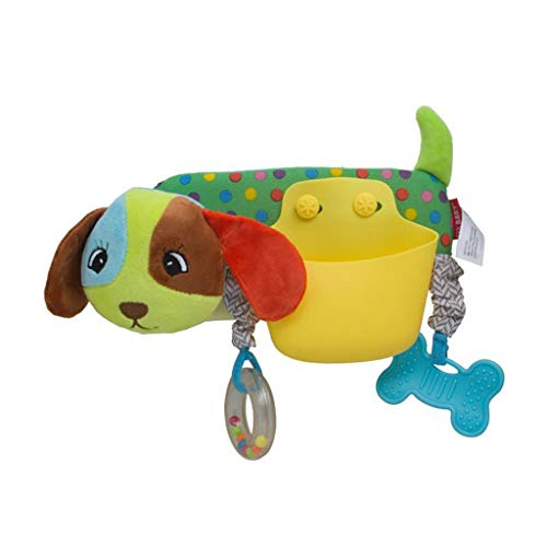Fine Baby Stroller Storage Pocket,Cartoon Animal Storage Pocket Cartoon Animal Crossbar Pendant Baby Bed Plush Toy (B)