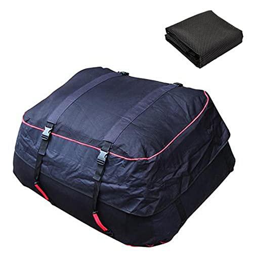 Bolsa de transporte para el techo del automóvil, bolsa de equipaje de automóvil impermeable plegable de 220 l con correas de refuerzo ajustables y alfombrilla antideslizante para todos los automóviles