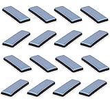 Filzada® 16x Almohadillas de Teflón para Muebles autoadhesivo - 70 x 19 mm (cuadrado) - Deslizadores profesionales de muebles/deslizadores de alfombras PTFE (Teflón)