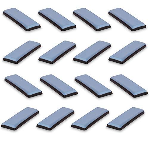 Filzada® 16x Teflongleiter Selbstklebend - 70 x 19 mm (eckig) - Profi Möbelgleiter/Teppichgleiter PTFE (Teflon)
