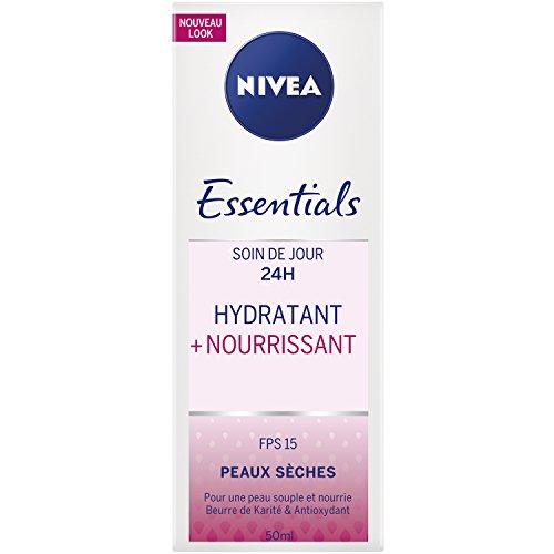 Nivea Soin de jour 2H HYDRATANT +NOURRISSANT Peaux Sèches et Sensibles 50 ml - Lot de 2