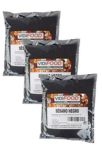 Semillas De Sésamo Negro - 3kg - Condimento Con Sabor A Nueces Para Platos Cetogénicos Y Veganos - Semillas Crujientes Y Sabrosas
