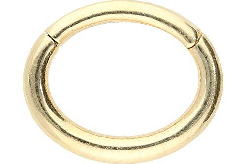 PIERCINGLINE 18 Karat Echtgold Segmentring Clicker Oval | Piercing Ring Septum Helix Tragus | Farbauswahl
