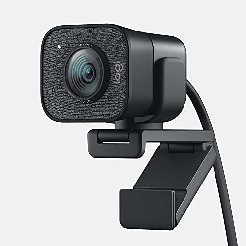 Logitech for Creators StreamCam Premium Webcam for Streaming and Content Creation, Full HD 1080p 60 fps, Premium Glass Lens, Smart Auto-Focus, for PC/Mac - Graphite