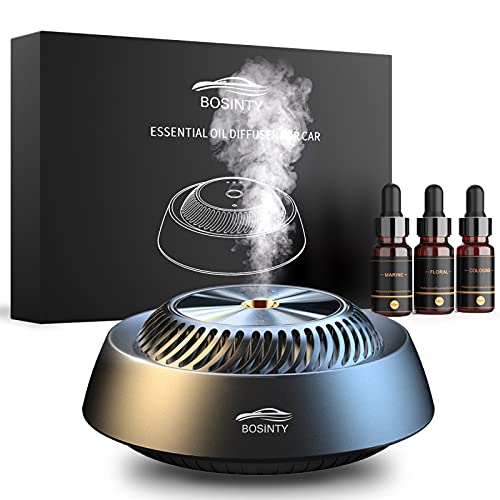 【Ajustable Scent Level】 Car Air Fresheners, 【Remove odors & staying fresh】 Long-lasting Fragrant Car Essential Oil Diffuser with 100% Natural Essential Oils(Cologne, Floral, Marine),Absorb Smoke Smell