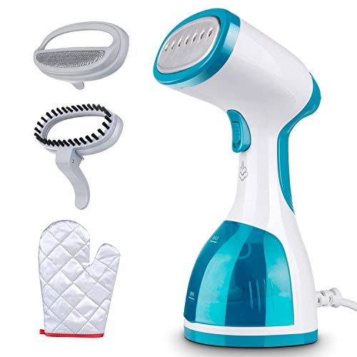 Minetom Garment Steamer for Clothes -1000W Portable Powerful Handheld Clothes Steamer with 260ml High Capacity, 40s Fast Heat-up, Wrinkle Remover, Clean and Sterilize, Best for Home and Travel