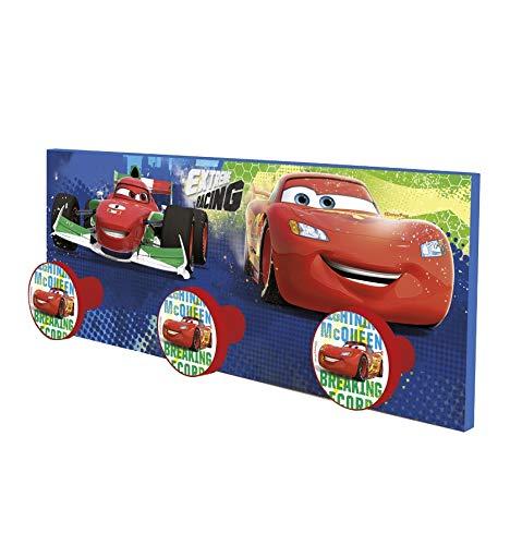 Stor - Perchero Infantil Charm | CARS RACERS - RAYO MCQUEEN - Disney - Dimensiones: 40 x 15 cm. - Varios Modelos