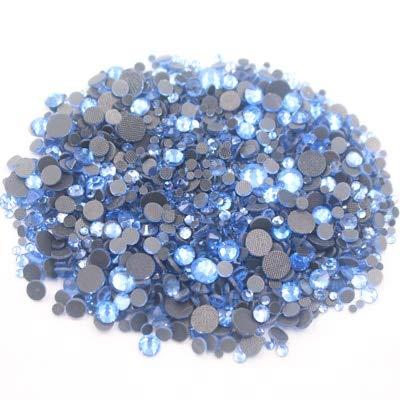Astonish 2500pcs Mix Größe crystalab runde Flatback Crystals Strass Glassteine ??und Kristalle Strass Hotfix Strasssteine ??für Kleidung: lt Saphir, 1000PCS