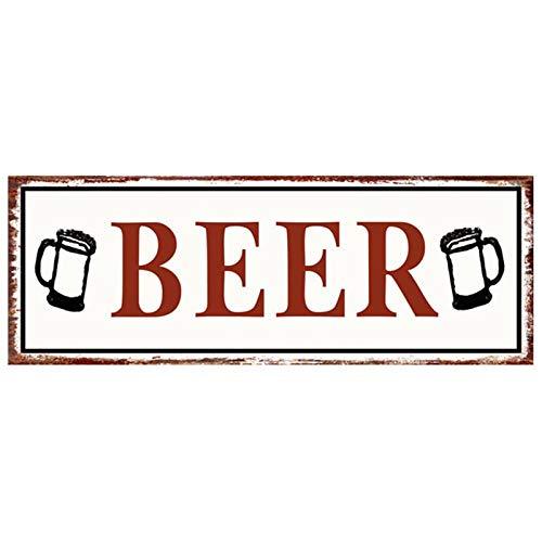 Primus Blechschild Art 36cm x 13cm Witz Küche Garage Mann Höhle Vintage (Bier) One Size
