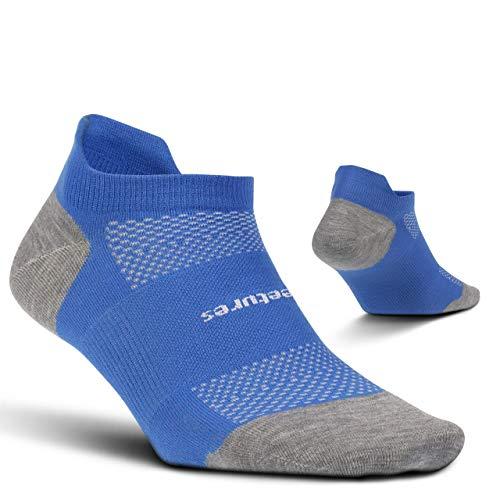 Feetures  High Performance Ultra Light  No Show Tab  Sportliche Laufsocken für Damen und Herren - Blau - Large