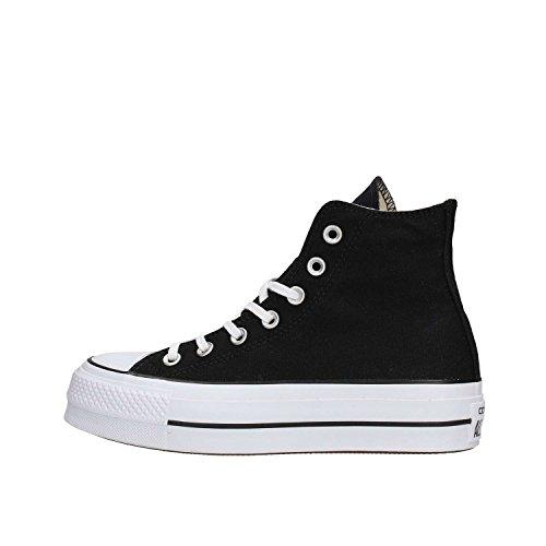 Converse Chucks Plateau Schwarz 560845C Chuck Taylor All Star Lift - HI Black White White, Groesse:36 EU