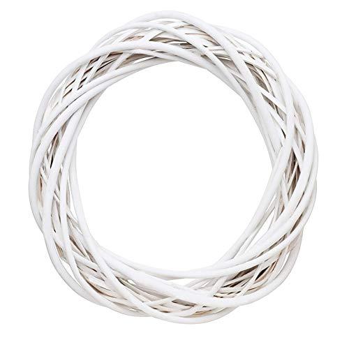 Ghirlanda di vimini, decorazione natalizia in rattan, anello floreale, 30 cm