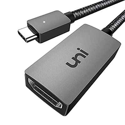 USB C to HDMI Adapter 4K, uni HDMI to USB C (Thunderbolt 3) Adapter, Compatible for MacBook Pro, iPad Pro, iPad Air, Galaxy, Huawei Mate 40, Surface Pro 7, XPS 13/15