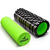 COVACURE Unisex 2-in-1 Trigger Point Muscle Foam Roller, Nero, Grande...