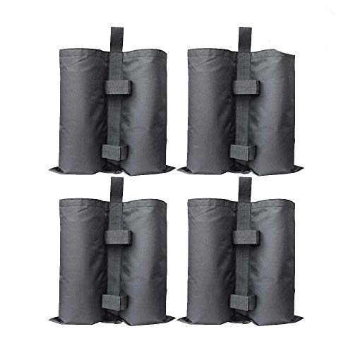 RIOGOO 4 Pack Gazebo Sand Weights Industrial Grade Heavy Duty Double-Stitched Sand Weight Bags, Leg Weights for Pop up Canopy Tent Sun Shades, Umbrella, Trampolines Weighted Feet Bag