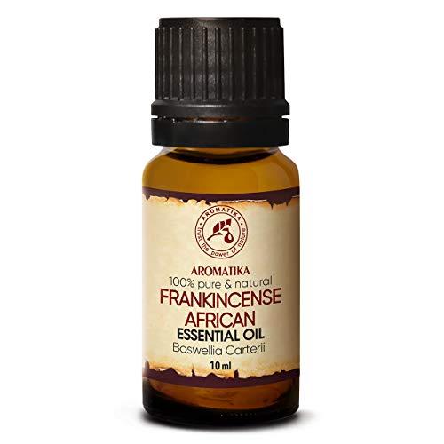Aceite Esencial de Incienso 10ml - Boswellia Carterii - Africano - 100% Puro - Cuidado del Cuerpo & Piel - Aromaterapia - Difusor de Aroma - Lámpara de Fragancia - Fragancia de Habitación