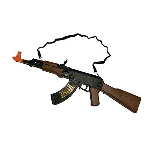 LilPals' 27 Inch AK-47 Toy Machine Gun Rifle – with Dazzling Light, Amazing Sound & Unique Action