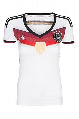 adidas DFB Home Trikot 4 Sterne Damen Heimtrikot Weltmeister (weiß, XXS)
