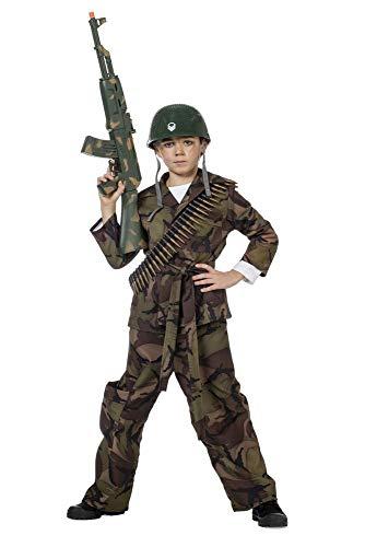 shoperama Kinder-Kostüm Soldat Camouflage Grün Jungen Tarnfarbe Teenager, Größe:152