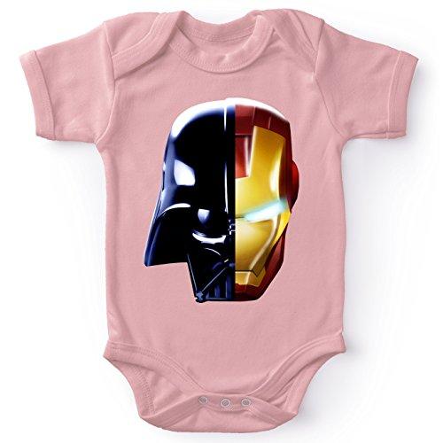 Body bébé Manches Courtes Filles Rose Parodie Star Wars - Iron Man - Dark Vador, Iron Man et Daft Punk - Dark Punk - Get Darky : (Body bébé de qualité supérieure de Taille 3 Mois - imprimé en Franc