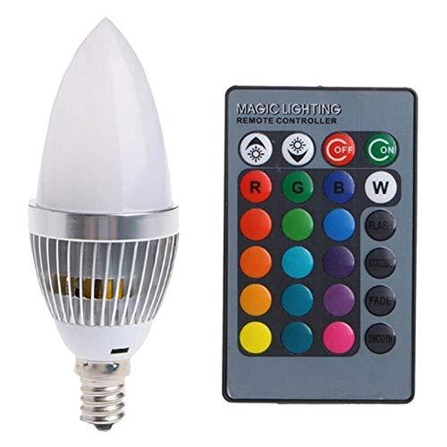 1 Pieza de Bulbo Multicolor 3W Smart E27 RGB LED Bombilla de Cambio de Color Colorido con botón de Control Remoto Láctea Blanca láctea