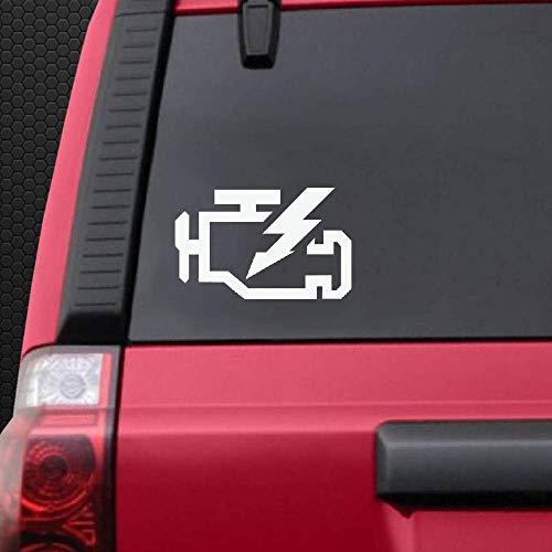 Sticker auto sticker auto sticker check motor licht sticker voor auto bumper raam sticker stickers
