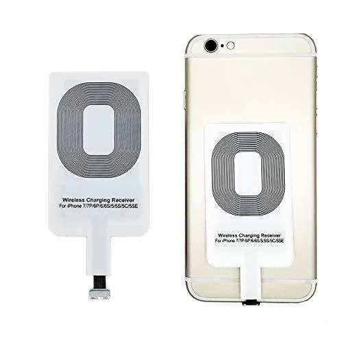 Qrity Qi Ricevitore di ricarica wireless, ultra sottile e intelligente Microchip per cuscinetti di ricarica wireless Qi - Per i Phone 7/7 Plus, i Phone 6S/6/6 Plus, i Phone 5/5s/5C IOS Ricevitore