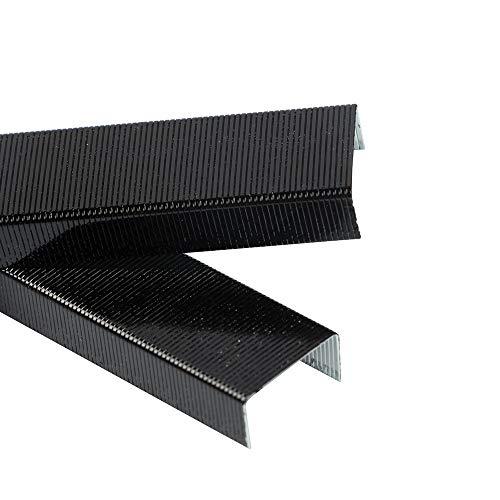 JAM PAPER Standard Size Colorful Staples - Jet Black - 5000/box