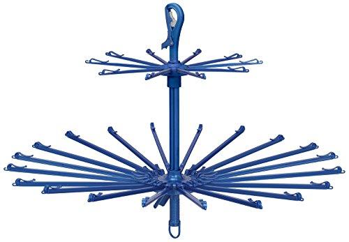 東和産業 洗濯ハンガー EX2 スーパーキャッチ 2段 パラソルハンガー 20本掛 ブルー TW62033