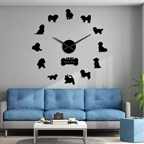 Große Hunderasse, Haushund Bullmastiff DIY Riesenwanduhr, Heimtextilien, Zoohandlung, Tierklinik, Wandkunst, große Uhr, Uhr