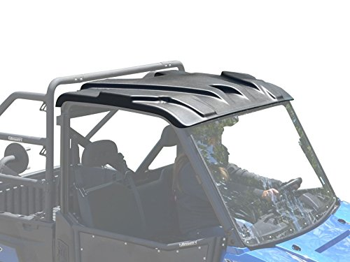 SuperATV Heavy Duty Plastic Roof for Polaris Ranger Full Size XP 570/900 / 1000/1000 Diesel - 2 Seater | Easy to install | This UTV Top protects you and passengers from sun, rain and debris!