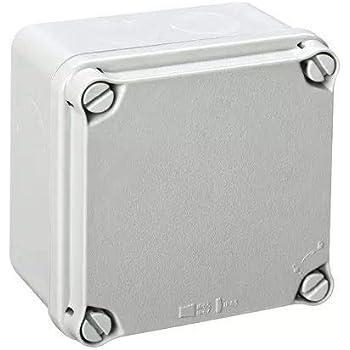 IDE EX111 IP65-IP67 Caja Estanca de Derivación con Tapa Opaca y Entradas Pretroqueladas, Gris, 108mm x 108mm x 64mm: Amazon.es: Industria, empresas y ciencia