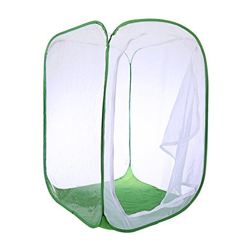 Poxl Insekt Und Schmetterling Habitat Käfig Faltbare Weiß Grün Schutz Käfig Mesh Terrarium Pop-Up
