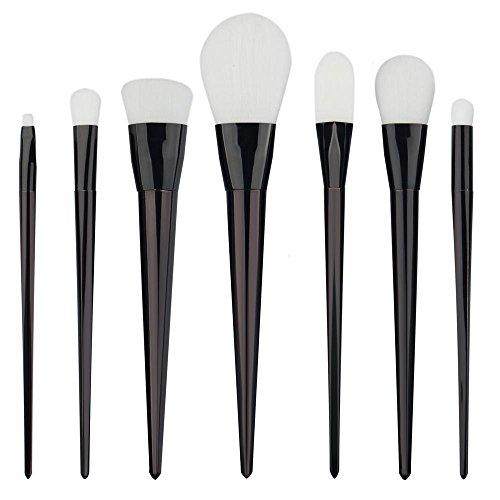RY@ Make Up Pinceaux Professionnels 7pcs / set Maquillage Pinceaux Cosmétiques Set Poudre Fondation Ombre à Paupières Brosse à Lèvres Outil (Noir)
