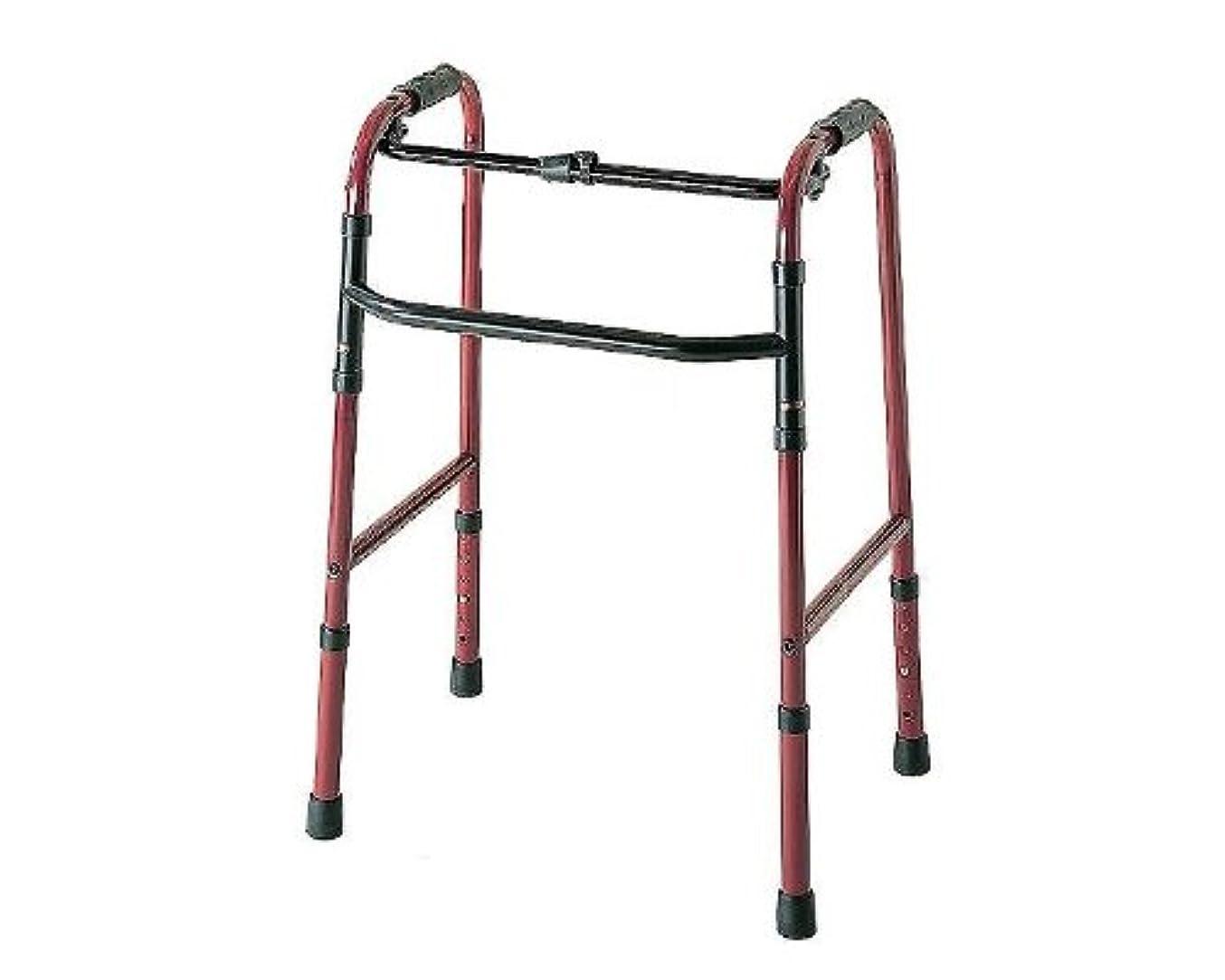バンケット複合名前を作る【歩行器(キャスター無し)】折りたたみ式歩行器 ◆ [C2021] ■ ブロンズ