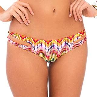 Women's Sun Kissed Laughter Reversible Zig-Zag Open-Side Bikini Bottom