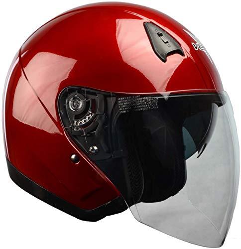 Vega Helmets Unisex Adult Open Face Helmet (Red, Medium)