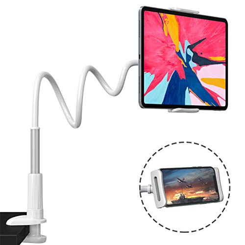 Andobil Gooseneck Tablet Holder for Bed - Upgraded Tablet Stand Mount Compatible with iPad iPhone/Nintendo Switch/Samsung Galaxy Tabs and More 4.6-10.5