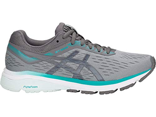 ASICS Women's GT-1000 7 Running Shoes, 9.5M, Stone Grey/Carbon