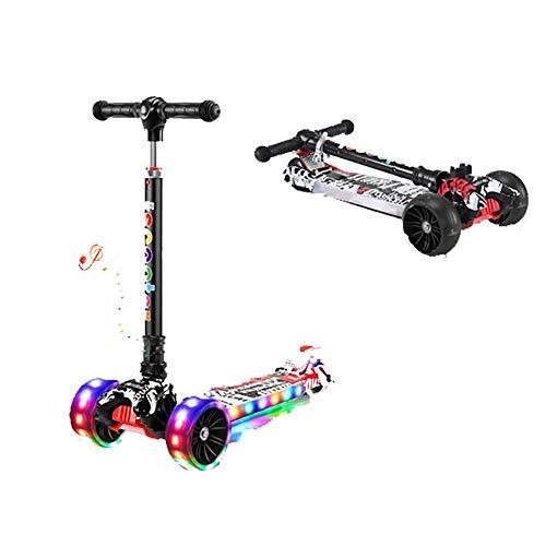 GAOTTINGSD Freestyle Scooter,Roller Roller Scooter Kinderroller Cityroller Kickroller Kickscooter, plegable con 3 ruedas, soporta 90 kg, altura regulable 56 cm ~ 80 cm (color C)