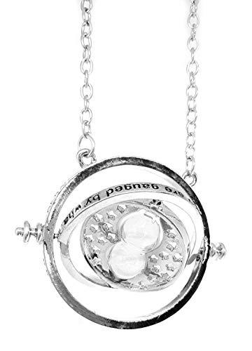 Bodytrend Hermione Time Turner - Collar con colgante de reloj de arena con hacón de magia