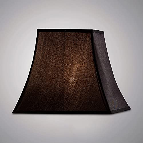 Inspired Diyas - Contessa - Pantalla cuadrada negra 190, 355 mm x 300 mm