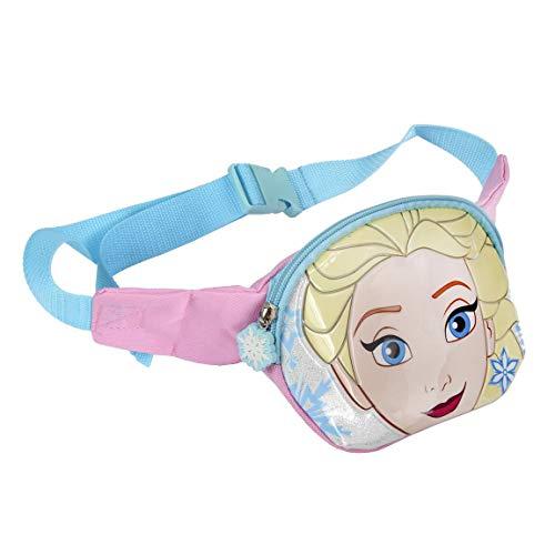 Sac banane enfant fille Disney La reine des neiges Elsa Rose/bleu 33x12x10cm